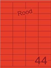 Etiket rood 52,5x25,4mm (44) ds200vel A4