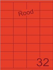 Etiket rood 52,5x35mm (32) ds100vel A4