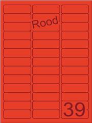 Etiket rood 63,5x21,2mm (39) ds200vel A4