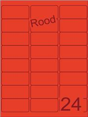 Etiket rood 63,5x33,9mm (24) ds100vel A4
