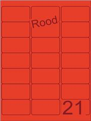 Etiket rood 63,5x38,1mm (21) ds100vel A4 (SC66000399)