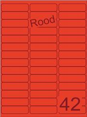 Etiket rood 65x20mm (42) ds200vel A4