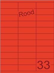 Etiket rood 70x25,4mm (33) ds100vel A4