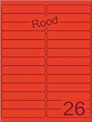 Etiket rood 99,1x21,2mm (26) ds200vel A4