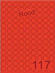 Etiket rood rond ø19mm (117) ds200vel A4