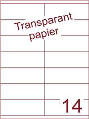 Etiket Transparant papier mat 105x40 (14) ds200vel A4 (TPA14-2)