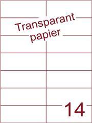 Etiket Transparant papier mat 105x42,4 (14) ds200vel A4 (TPA14-2)