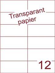Etiket Transparant papier mat 105x49,5 (12) ds200vel A4 (TPA12-2)