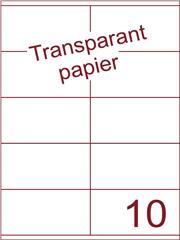 Etiket Transparant papier mat 105x56,8 (10) ds200vel A4 (TPA10-2)