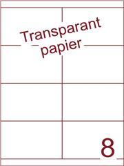 Etiket Transparant papier mat 105x67,7 (8) ds200vel A4 (TPA8-2)
