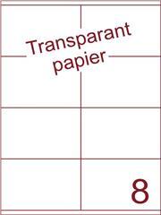 Etiket Transparant papier mat 105x71 (8) ds200vel A4 (TPA8-2)