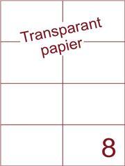 Etiket Transparant papier mat 105x74,25 (8) ds200vel A4 (TPA8-2)