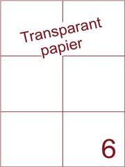 Etiket Transparant papier mat 105x99 (6) ds200vel A4 (TPA6-2)