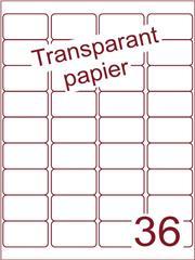 Etiket Transparant papier mat 48,3x29,7 (36) ds200vel A4 (TPA36-4)