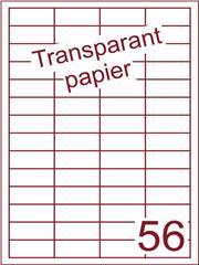 Etiket Transparant papier mat 48x20 (56) ds200vel A4 (TPA56-4)