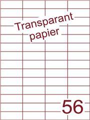 Etiket Transparant papier mat 52,5x21,2 (56) ds200vel A4 (TPA56-4)