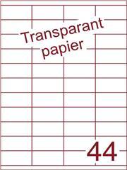 Etiket Transparant papier mat 52,5x25,4 (44) ds200vel A4 (TPA44-4)