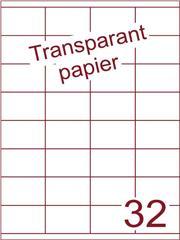 Etiket Transparant papier mat 52,5x35 (32) ds200vel A4 (TPA32-4)