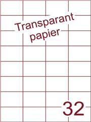 Etiket Transparant papier mat 52,5x37,1 (32) ds200vel A4 (TPA32-4)