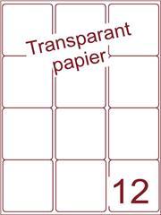 Etiket Transparant papier mat 63,5x72 (12) ds200vel A4 (TPA12-3)