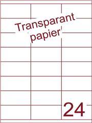 Etiket Transparant papier mat 70x35 (24) ds200vel A4 (TPA24-3S)