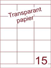Etiket Transparant papier mat 70x52 (15) ds200vel A4 (TPA15-3)