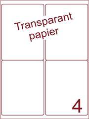 Etiket Transparant papier mat 99,1x139 (4) ds200vel A4 (TPA4-2)