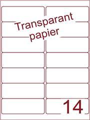 Etiket Transparant papier mat 99,1x38,1 (14) ds200vel A4 (TPA14-2)