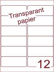Etiket Transparant papier mat 99,1x42,3 (12) ds200vel A4 (TPA12-2B)