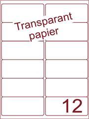 Etiket Transparant papier mat 99,1x46,6 (12) ds200vel A4 (TPA12-2)