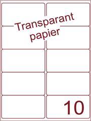 Etiket Transparant papier mat 99,1x56,8 (10) ds200vel A4 (TPA10-2)