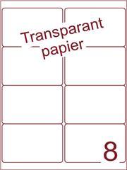 Etiket Transparant papier mat 99,1x67,7 (8) ds200vel A4 (TPA 8-2)