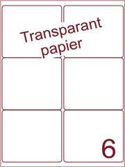 Etiket Transparant papier mat 99,1x93,2 (6) ds200vel (TPA6-2)