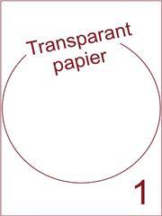 Etiket Transparant papier mat rond ø 205mm (1) ds200vel A4