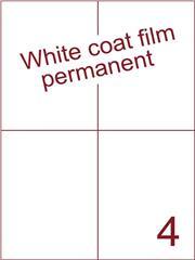 Etiket Whitecoat film wit mat 105x148,5 (4) dsds300vel A4 (WFH 4-2)