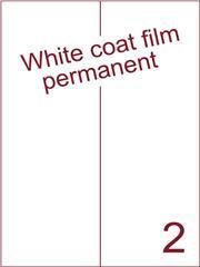 Etiket Whitecoat film wit mat 105x297 (2) dsds300vel A4 (WFH 2-2)