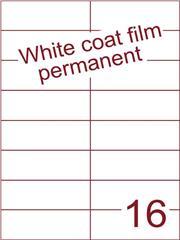 Etiket Whitecoat film wit mat 105x37,1 (16) dsds300vel A4 (WFH 16-3)