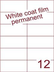 Etiket Whitecoat film wit mat 105x49,5 (12) dsds300vel A4 (WFH 12-2)