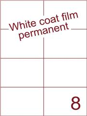 Etiket Whitecoat film wit mat 105x74,25 (8) dsds300vel A4 (WFH 8-2)
