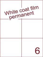Etiket Whitecoat film wit mat 105x99 (6) dsds300vel A4 (WFH 6-2)