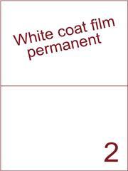 Etiket Whitecoat film wit mat 210x148,5 (2) dsds300vel A4 (WFH 2-1)