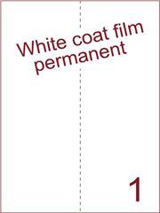 Etiket Whitecoat film wit mat 210x297 (1) dsds300vel A4 (WFH 1-1)