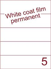Etiket Whitecoat film wit mat 210x59,4 (5) dsds300vel A4 (WFH 5-1)