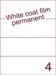 Etiket Whitecoat film wit mat 210x74,25 (4) dsds300vel A4 (WFH 4-1)