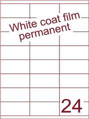 Etiket Whitecoat film wit mat 70x35 (24) dsds300vel A4 (WFHG 24-3)