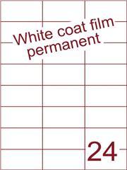Etiket Whitecoat film wit mat 70x37,1 (24) dsds300vel A4 (WFH 24-3)