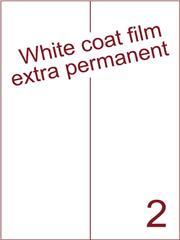 Etiket Whitecoat film wit mat extra permanent 105x297 (2) ds300vel A4 (WFH 2-2)