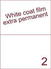Etiket Whitecoat film WCF200 wit mat Super permanent 210x148,5 (2) ds300vel A4 (WFH 2-1)