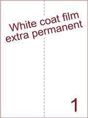 Etiket Whitecoat film wit mat extra permanent 210x297 (1) ds300vel A4 (WFH 1-1)