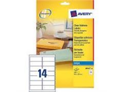 Etiket AVERY Inkjet 99,1x38,1 transparant/pak 350